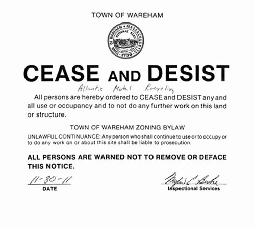 Cease and Desist order Template Inspirational Metal Recycling Pany Appears to Be Doing Business