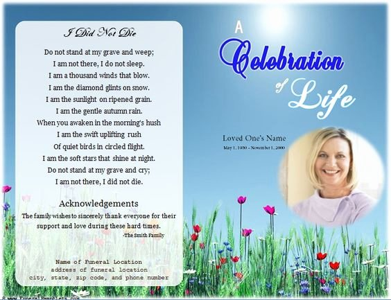 Celebration Of Life Template Free Awesome Loading Memorial Celebration Of Life Ideas