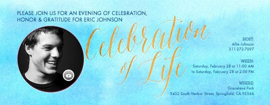 Celebration Of Life Template Free Beautiful Free Funeral and Memorial Line Invitations