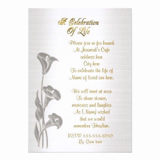 Celebration Of Life Template Free Beautiful Memorial Invitations Celebration Life