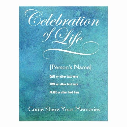 Celebration Of Life Template Free Inspirational 4 000 Memorial Invitations Memorial Announcements