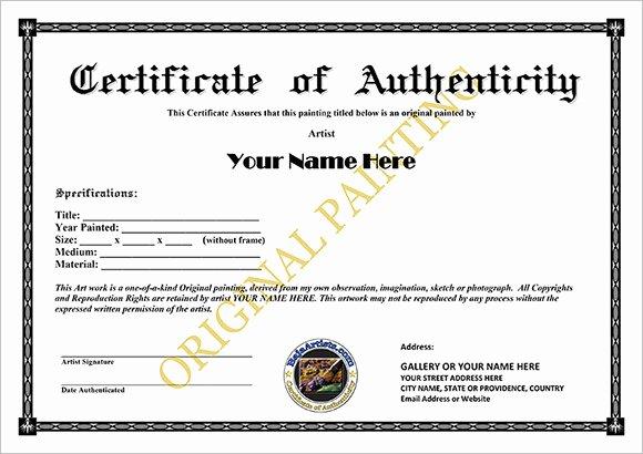 Certificate Of Authenticity Template Elegant 16 Certificate Of Authenticity Samples