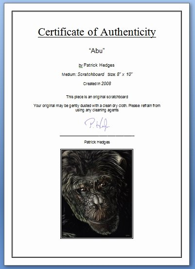 Certificate Of Authenticity Template Lovely How to Create A Certificate Of Authenticity Wetcanvas