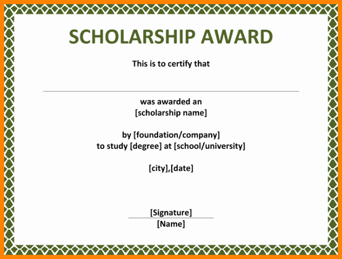 Certificate Of Data Destruction Template Best Of Scholarship Award Certificate Sample Image Collections
