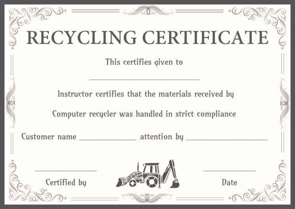 Certificate Of Data Destruction Template Unique 8 Best Certificate Of Destruction Images On Pinterest