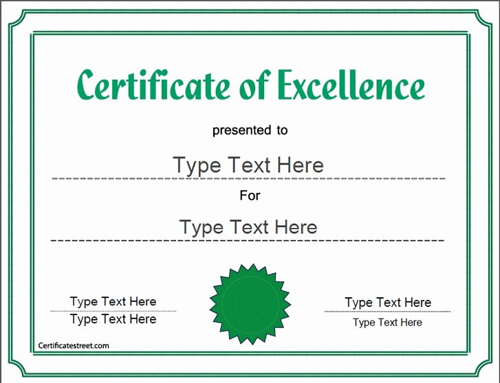 Certificate Of Excellence Template Awesome 40 Best Images About Business Certificates