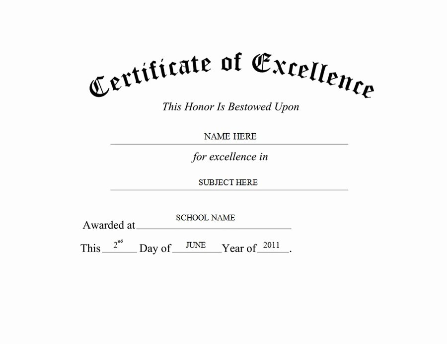 Certificate Of Excellence Template Lovely Geographics Certificates