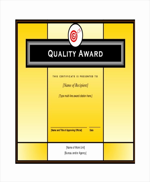 Certificate Of Quality Template Luxury 24 Sample Printable Certificate Templates Free Sample