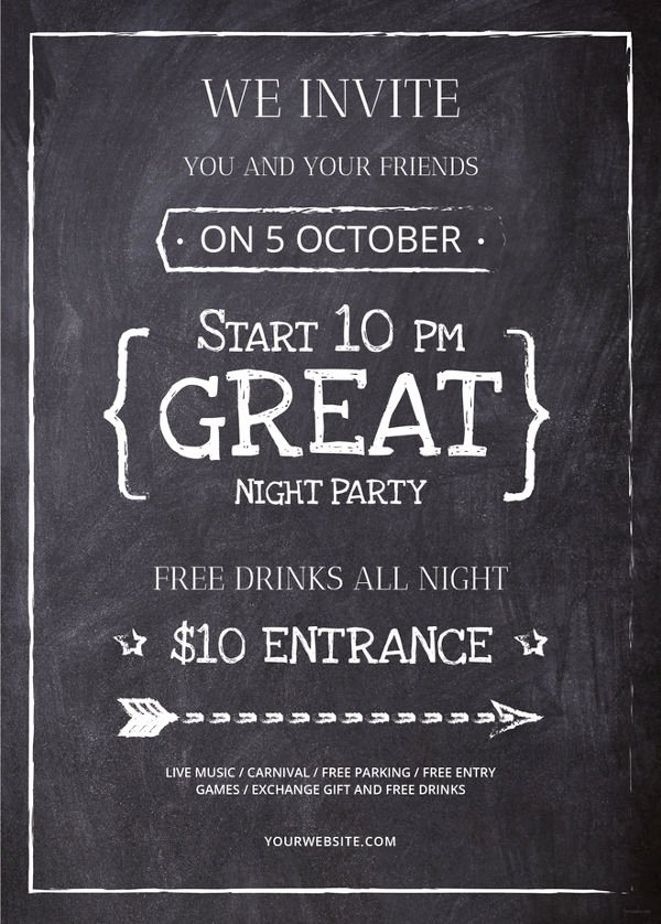Chalkboard Poster Template Free Beautiful 34 Design Flyers Free Psd Ai Vector Eps format