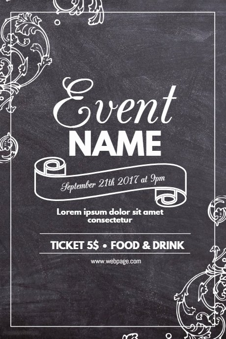Chalkboard Poster Template Free Lovely Copy Of Chalk event Flyer Template