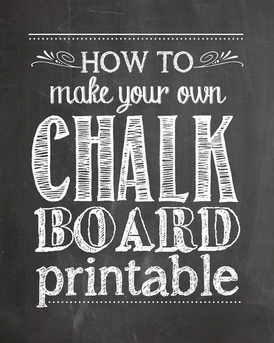 Chalkboard Poster Template Free Luxury How to Make Your Own Chalkboard Printables How to Nest