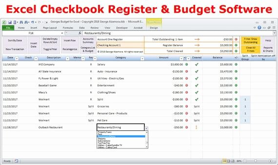 Checkbook Register Template for Mac Beautiful Excel Bud Spreadsheet Template and Checkbook Register