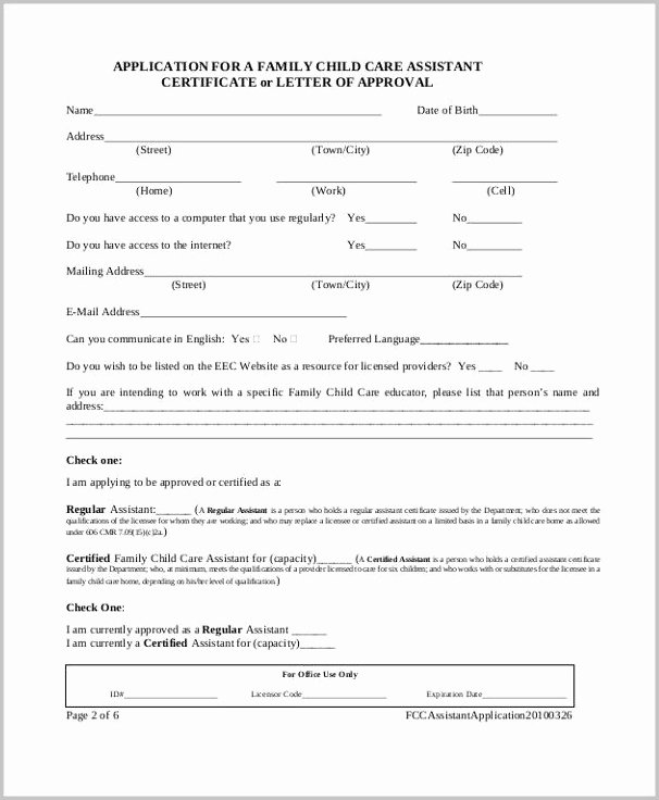 Child Care Application Template Best Of Ymca Daycare Job Application Job Applications Resume