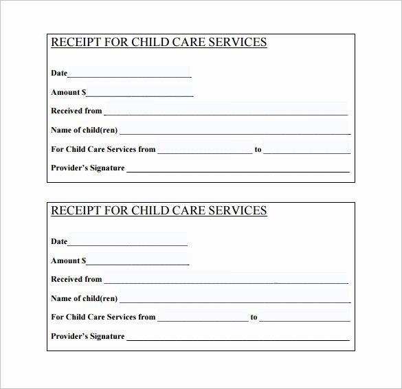 Child Care Application Template Unique 20 Daycare Receipt Templates Doc Pdf
