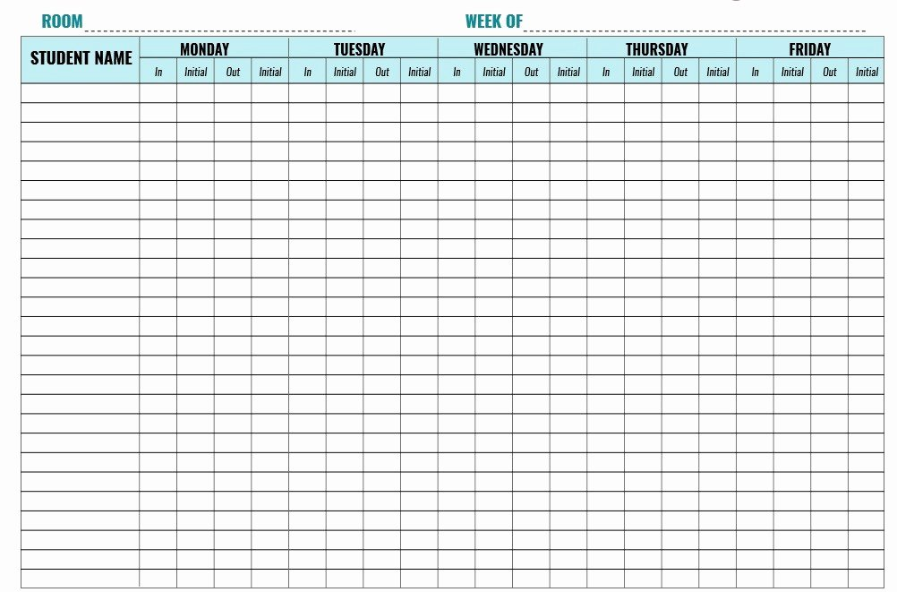 Childcare Sign In and Out Sheet Fresh 9 Free Sample Child Care Sign In Sheet Templates