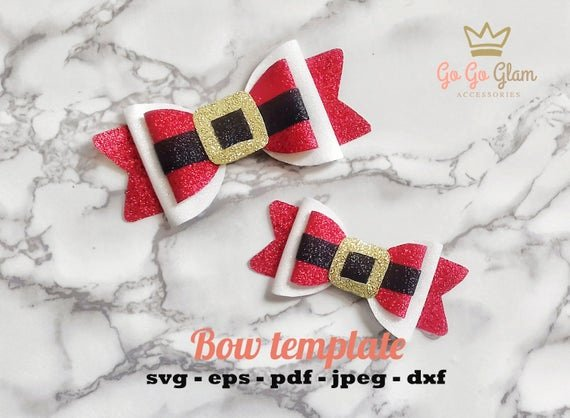 christmas bow template santa claus svg ga order=most relevant&organic search click=1