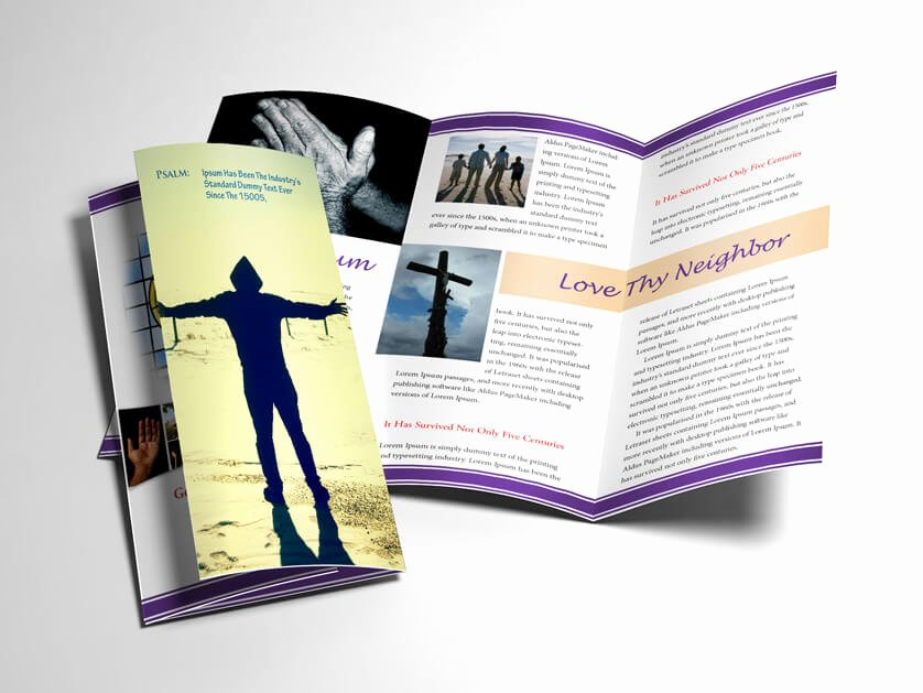 Church Bulletin Templates Indesign Elegant Church Bulletin Religious Brochure