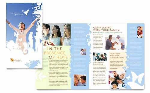 Church Bulletin Templates Microsoft Publisher Awesome Christian Church Brochure Template Word & Publisher