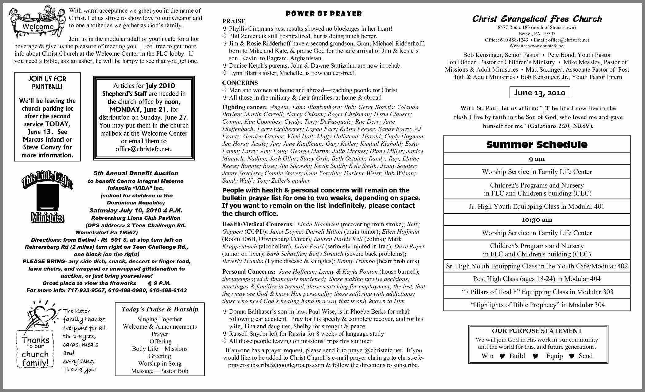 Church Bulletin Templates Microsoft Publisher Beautiful Free Printable Church Bulletin Templates Resume Blank