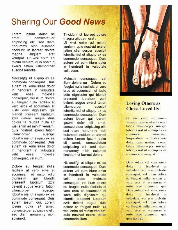 Church Bulletin Templates Microsoft Publisher Inspirational Easter Season Church Newsletter Template Template