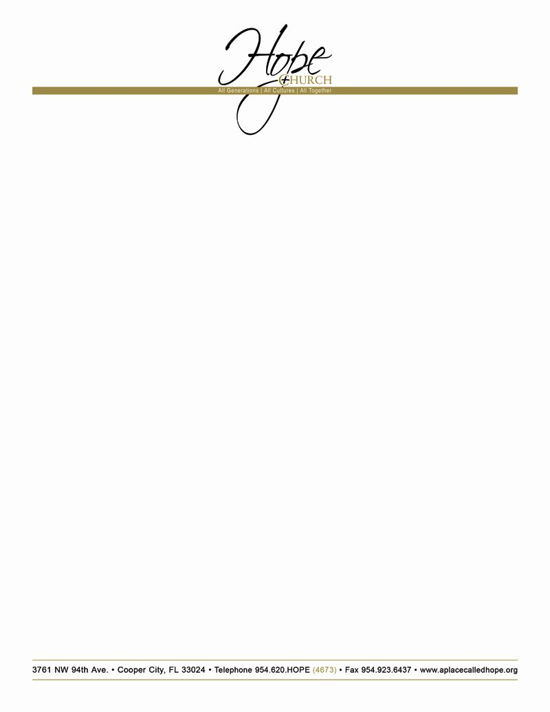 Church Letterhead Templates Beautiful Free Church Letterhead Templates