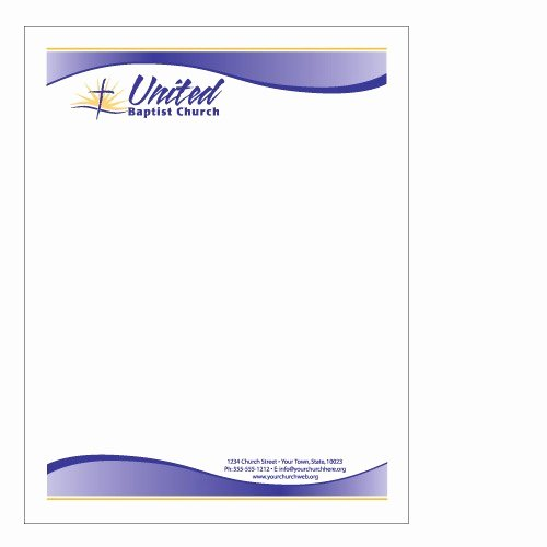 Church Letterhead Templates Elegant Sample Church Letterhead
