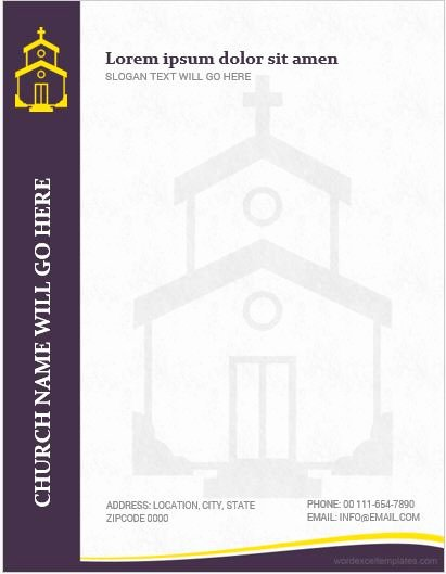 5 best ms word church letterhead templates