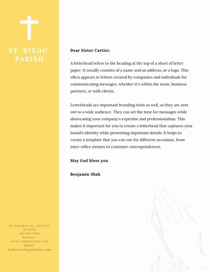Church Letterhead Templates Inspirational Customize 33 Church Letterhead Templates Online Canva