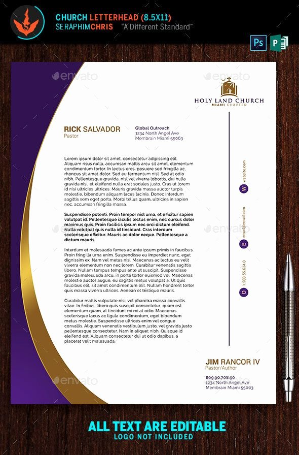 Church Letterhead Templates Luxury 25 Best Ideas About Letterhead Template On Pinterest