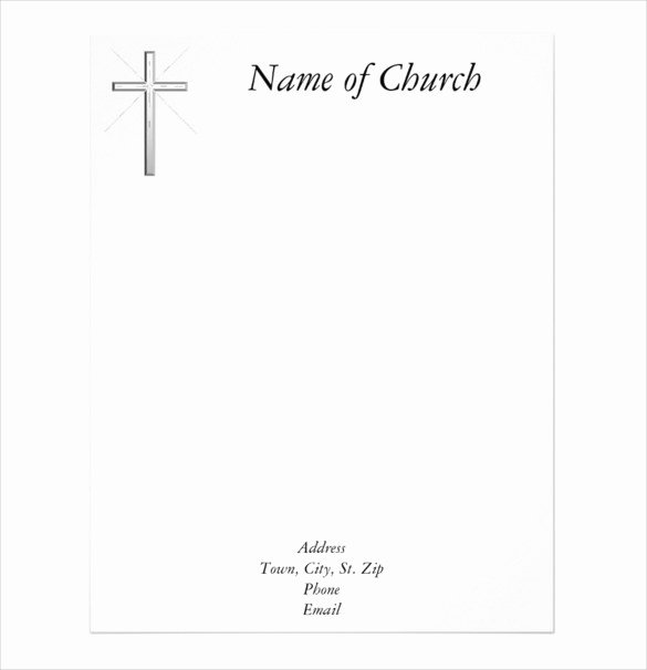 Church Letterhead Templates Luxury Free Church Letterhead Templates