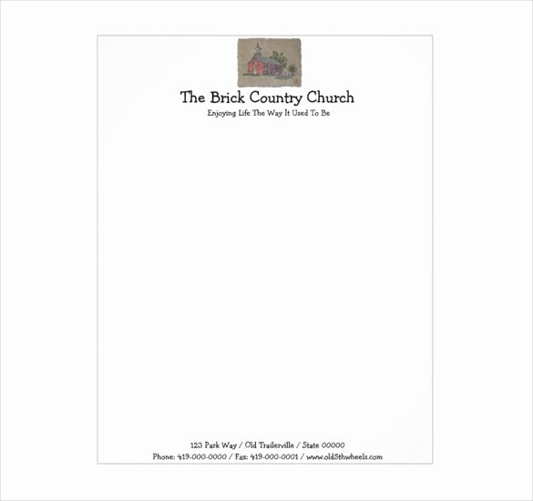 Church Letterhead Templates New Letterhead Template – 6 Free Psd Eps Documents Download