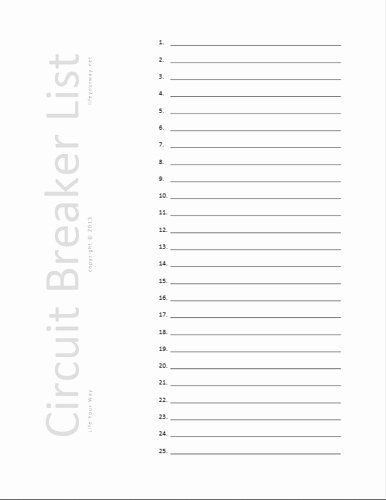 free printable circuit breaker panel labels