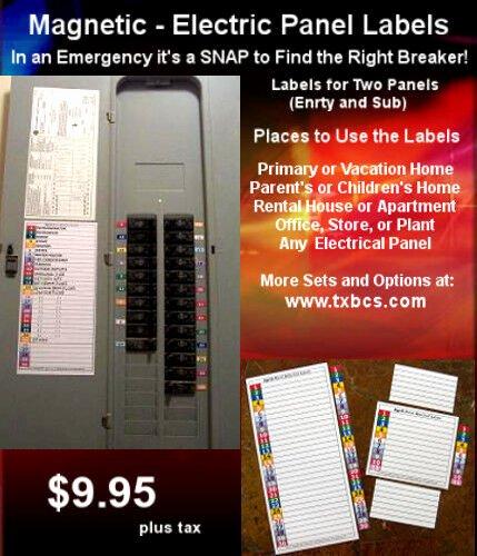 Circuit Breaker Panel Labels Elegant Circuit Breaker Panel Directory Labels 30 & 11 Position
