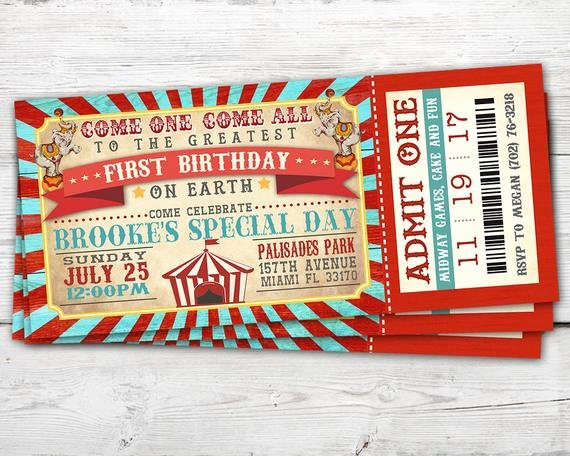Circus Ticket Invitation Awesome Circus Ticket Invitation Vintage Circus Invitation