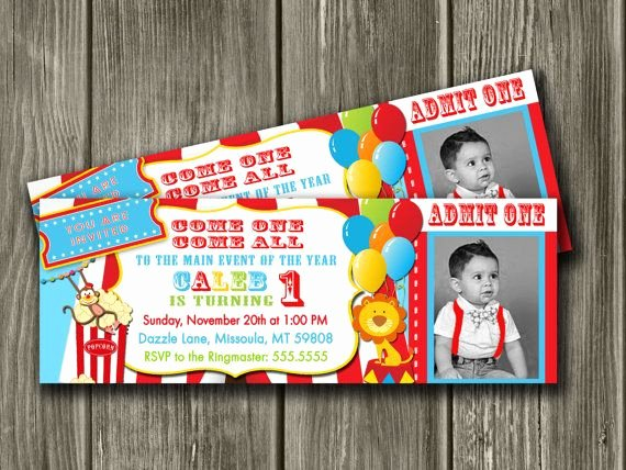 Circus Ticket Invitation Elegant Circus Party Invites that are Perfect by Dazzle