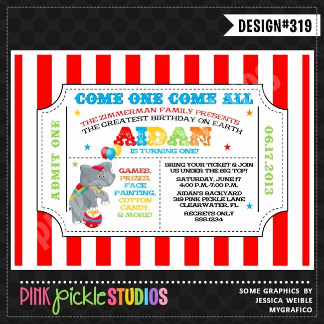 Circus Ticket Invitation Luxury 17 Best Images About Alyssa S 3rd Birthday Party On