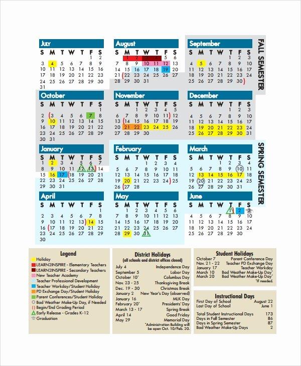 Classroom Calendar Template Beautiful 10 Teacher Calendar Templates