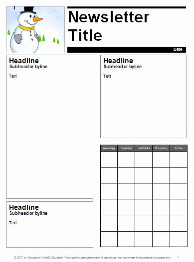 Classroom Calendar Template Beautiful Classroom Newsletter Template Printable Editable Word Pdf