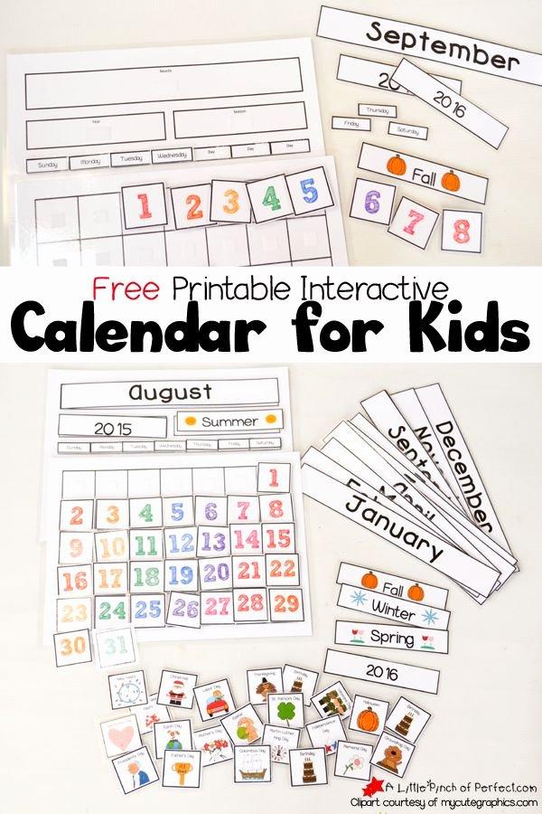 Classroom Calendar Template Elegant Best 25 Kids Calendar Ideas On Pinterest