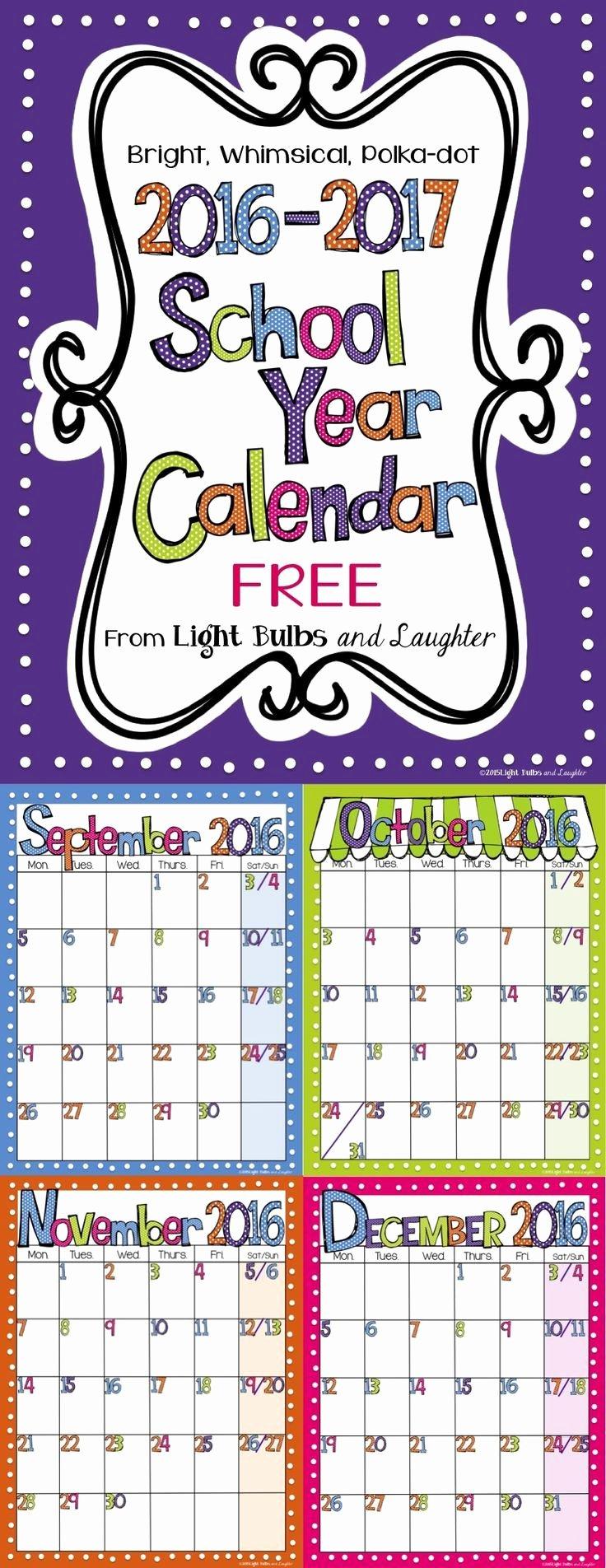 Classroom Calendar Template Fresh 17 Best Ideas About Monthly Calendars On Pinterest