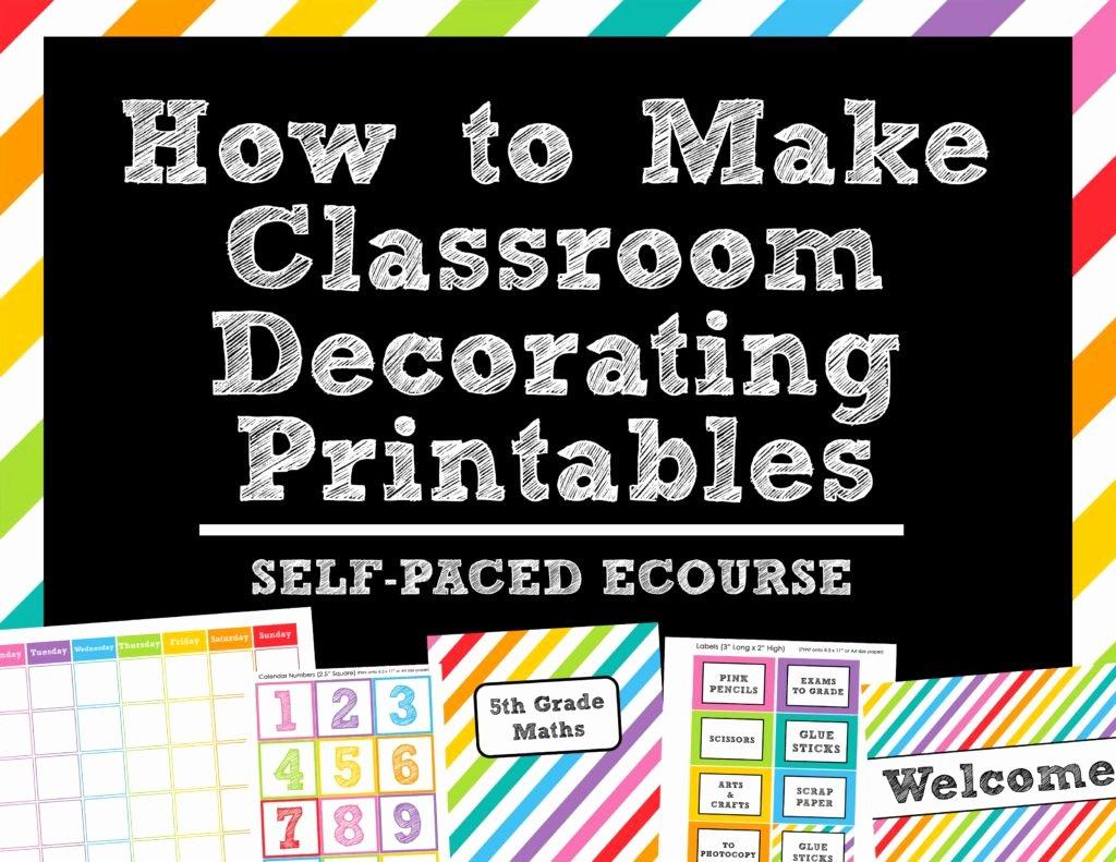 Classroom Calendar Template Inspirational How to Make Teaching Printables and Classroom Decorating