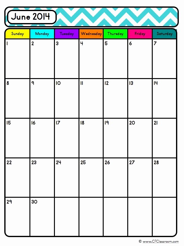 Classroom Calendar Template Luxury Editable Blank Calendars Teacher organization tool