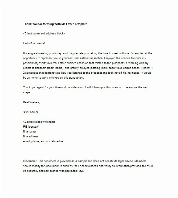 Client Notes Template Lovely Real Estate Thank You Letter – 6 Free Sample Example
