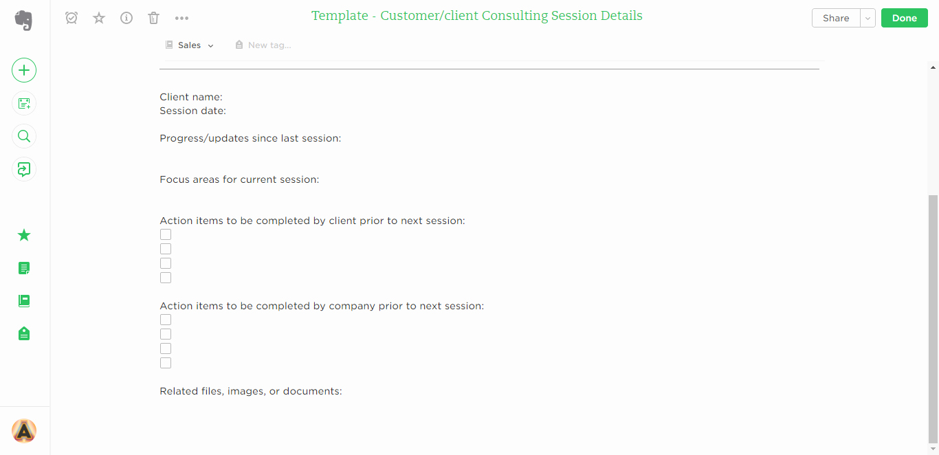 Client Notes Template Luxury 21 Evernote Templates & Workflows to Skyrocket
