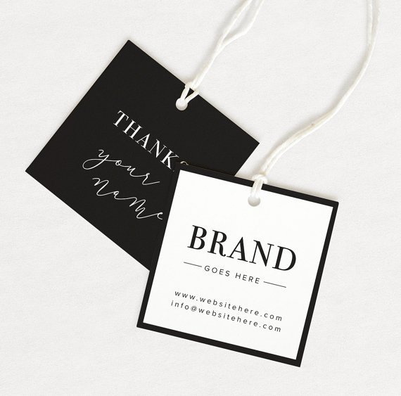 Clothing Hang Tag Template Elegant Thank You Tag Product Thank You Custom Hang Tag Custom