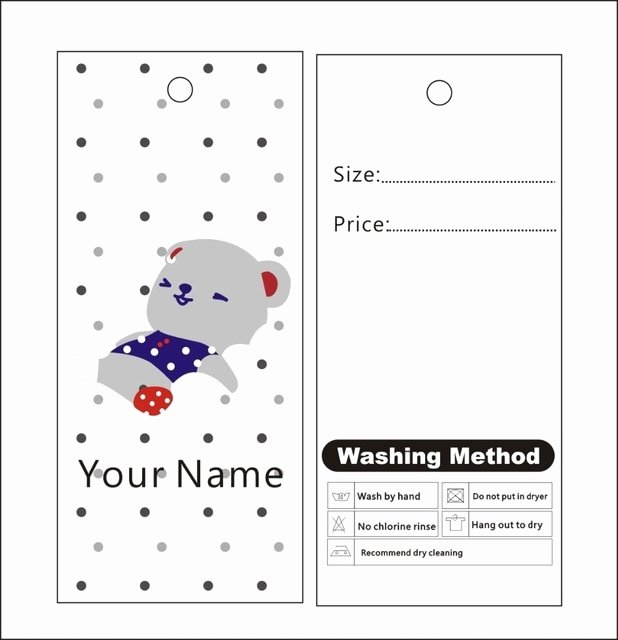 Clothing Hang Tag Template Luxury 500pcs Custom Print Winter Hang Tags Price Label Template