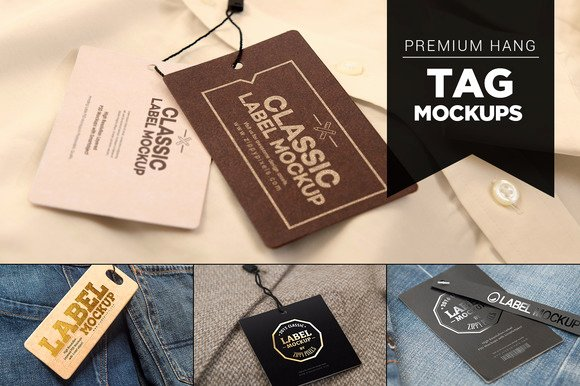 Clothing Hang Tag Template New Clothing Hang Tag Mock Up Template Designtube Creative