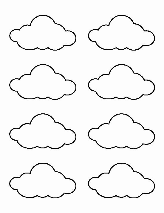 Cloud Template Printable Awesome Small Cloud Pattern Use the Printable Outline for Crafts