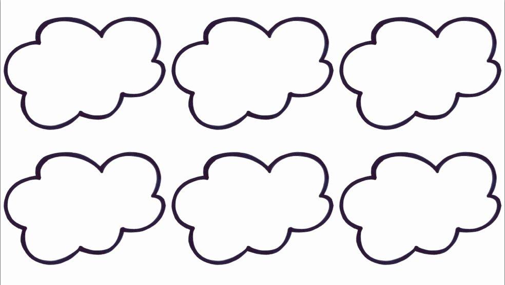 Cloud Template Printable Best Of Blank Cloud Template Clipart Best
