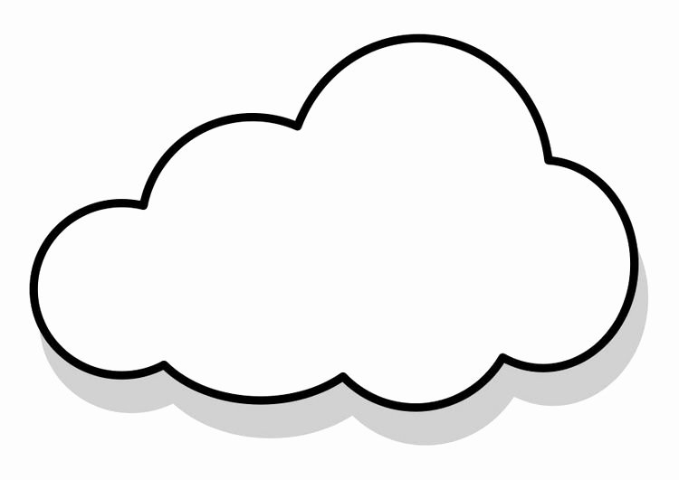 Cloud Template Printable Best Of Cloud Coloring Page Nature Coloring Pages